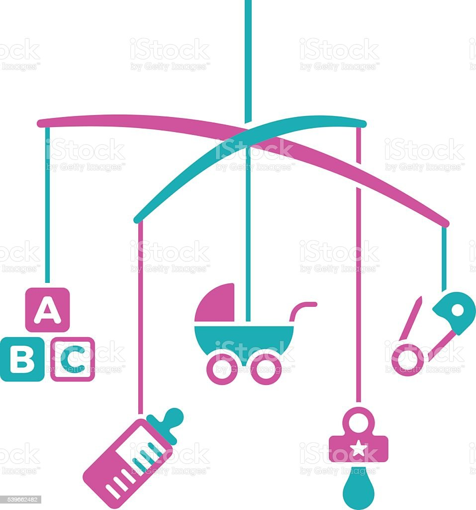 royalty free baby mobile clip art vector images illustrations rh istockphoto com Mobile Craft Mobile Clip Art