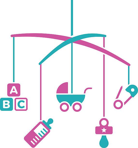 ilustrações, clipart, desenhos animados e ícones de bebê de celular - mobile