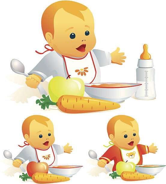 Best Baby Eating Illustrations, Royalty-Free Vector ...
