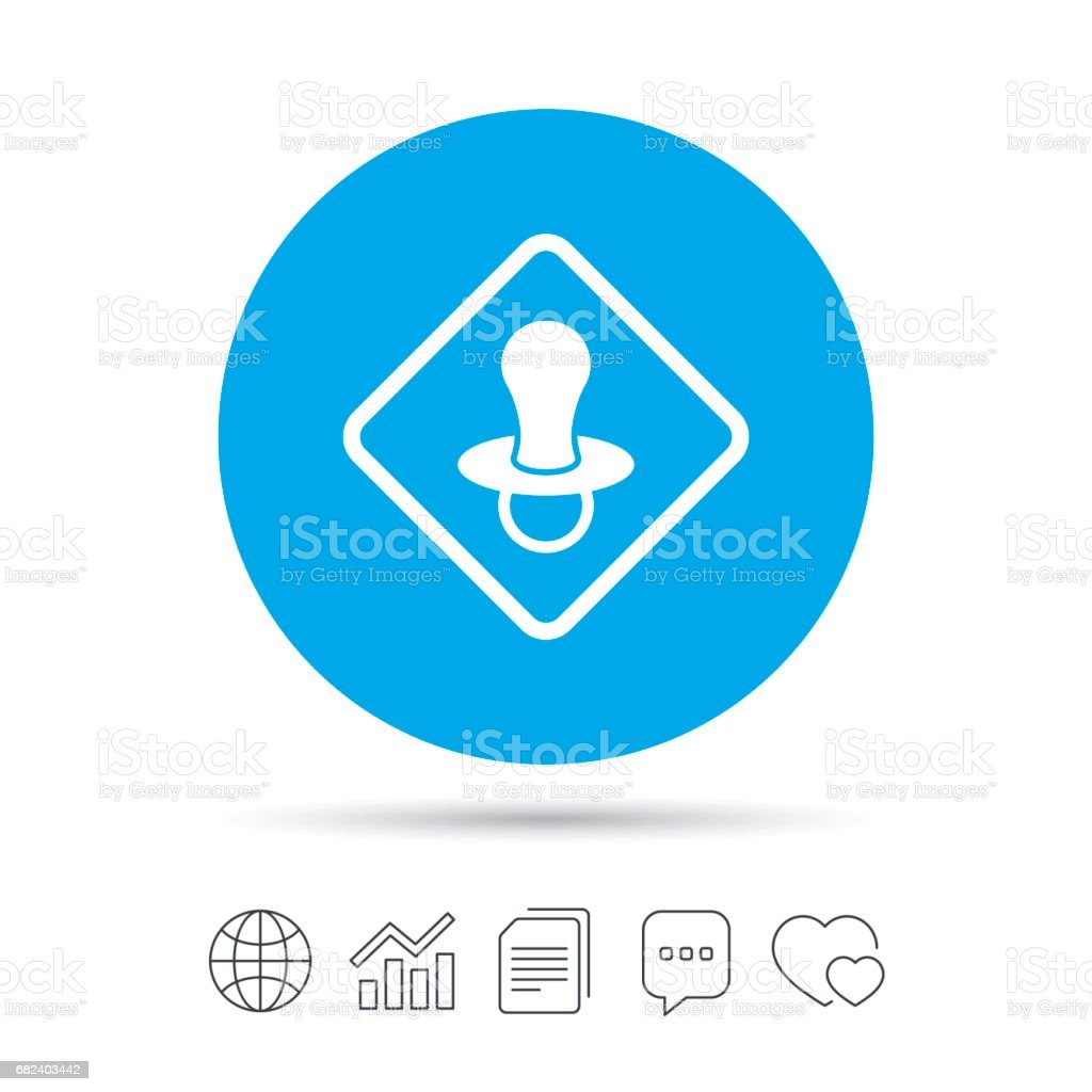 Baby on board sign icon. Infant caution symbol. royalty-free baby on board sign icon infant caution symbol stock vector art & more images of art