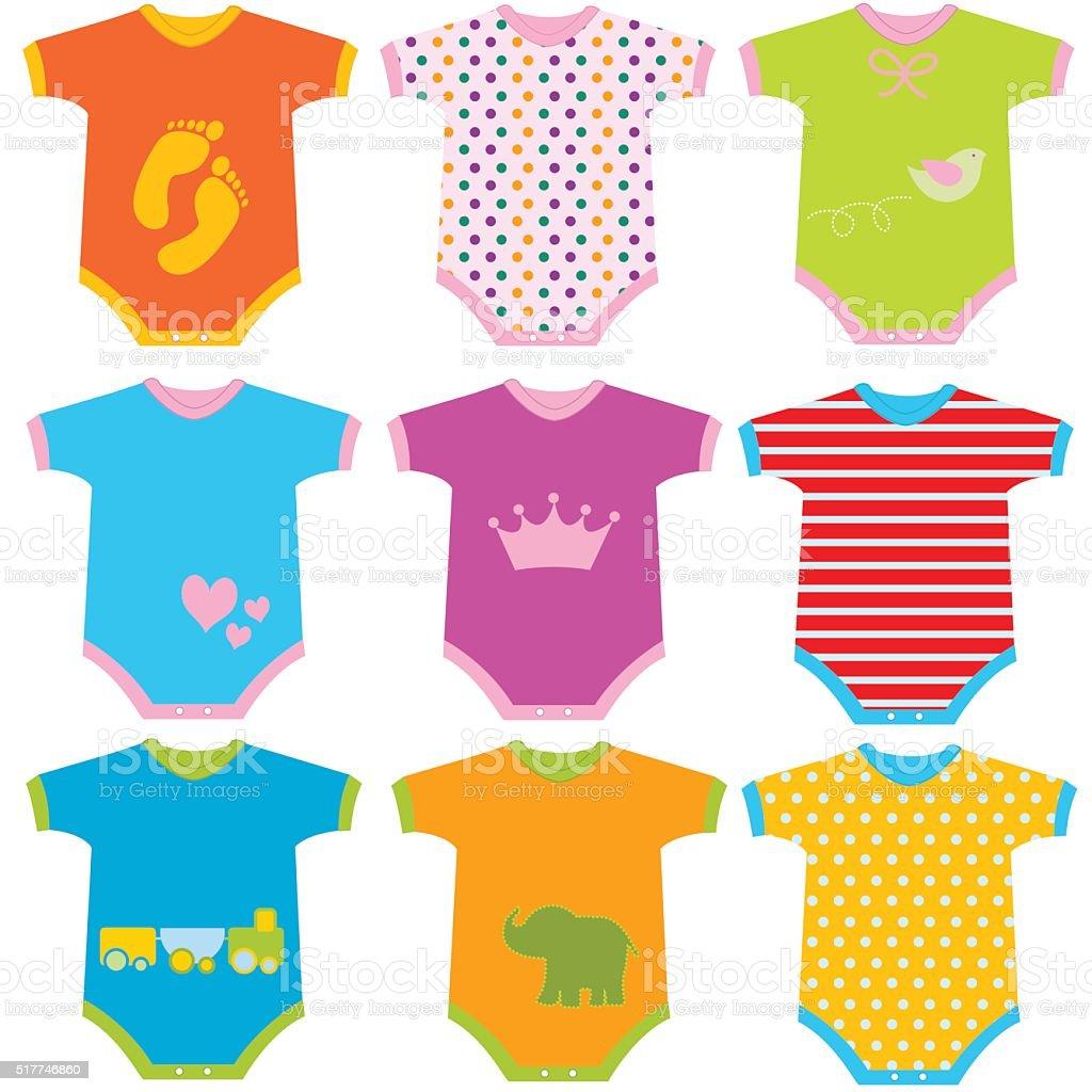 baby onesies vector illustration stock vector art