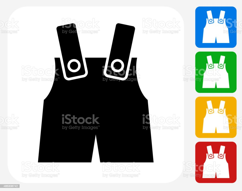 Baby Overalls Icon Flat Graphic Design vector art illustration