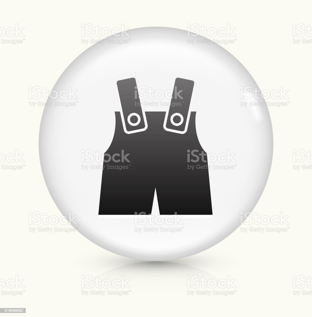 Baby Overalls icon on white round vector button vector art illustration