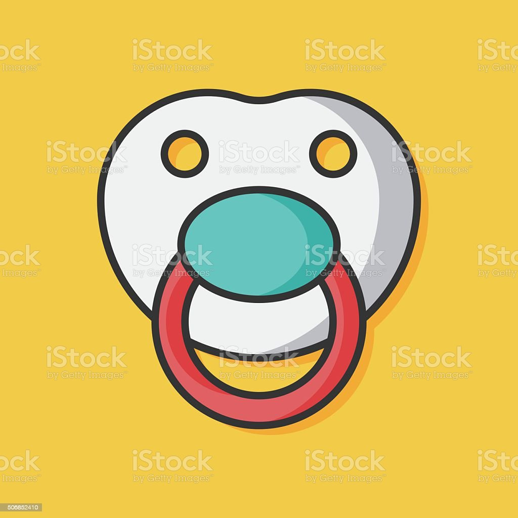 Baby pacifiers vector icon vector art illustration