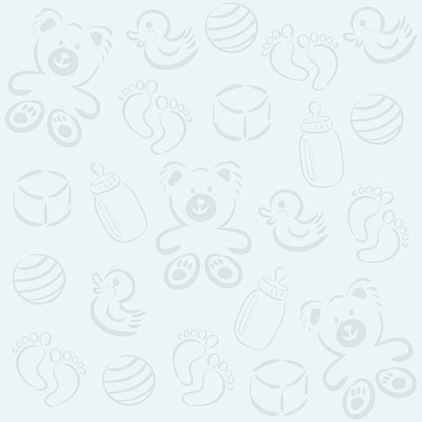 baby pattern II vector art illustration