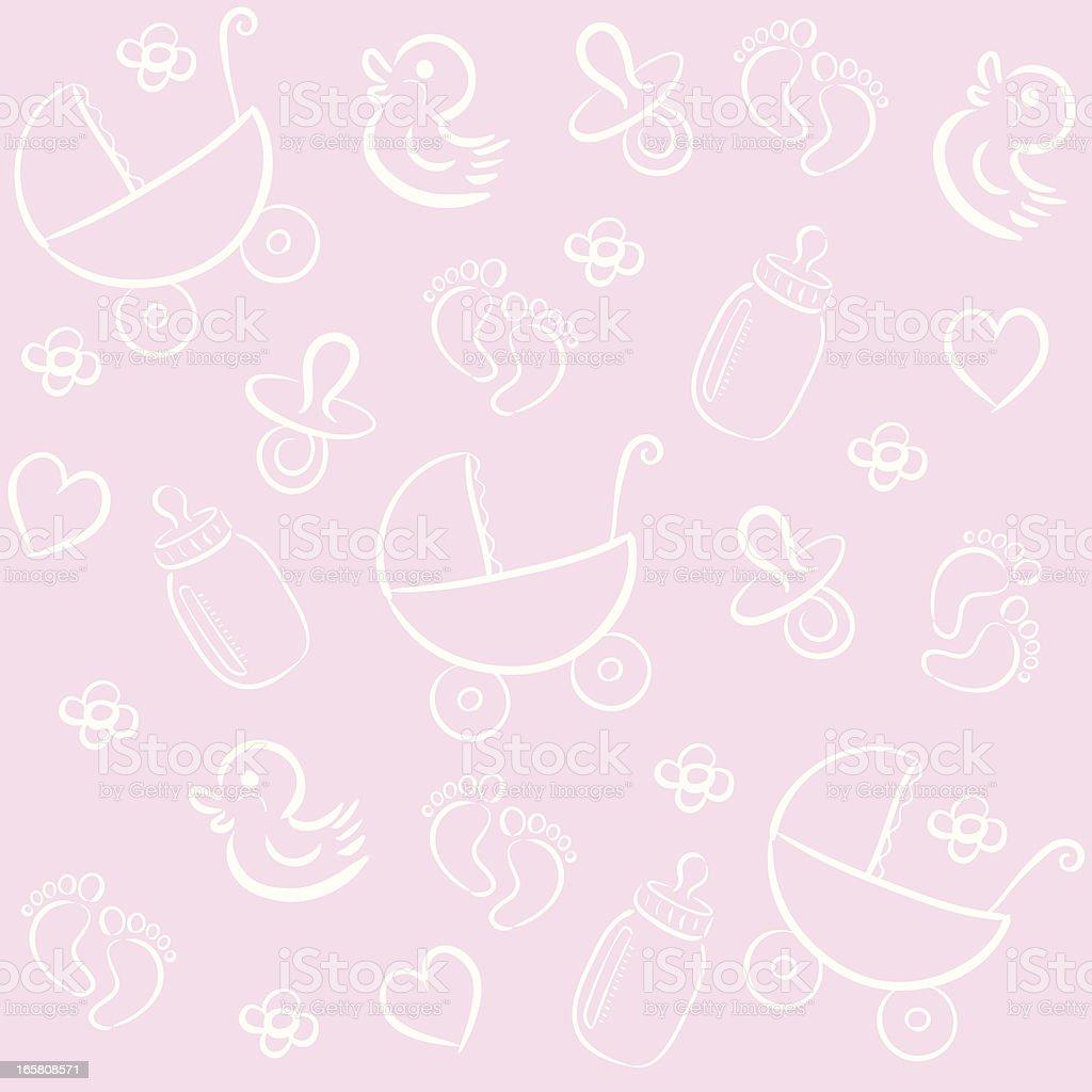 baby pattern vector art illustration