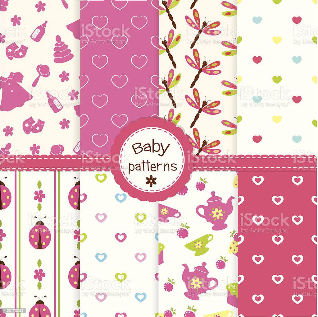Baby patterns royalty-free stock vector art