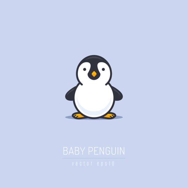 baby penguin - penguin stock illustrations