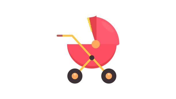 Baby perambulator vector icon Baby perambulator vector icon baby carriage stock illustrations