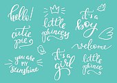 Baby photography family overlay set