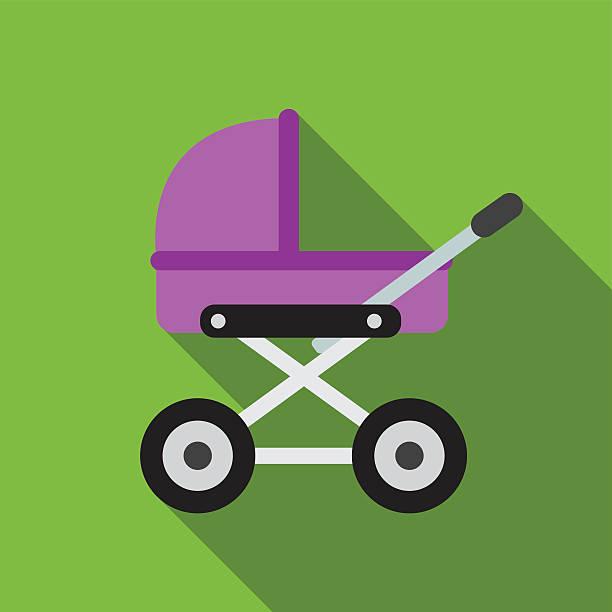 Baby pram flat icon illustration Baby pram flat icon illustration isolated vector sign symbol baby carriage stock illustrations