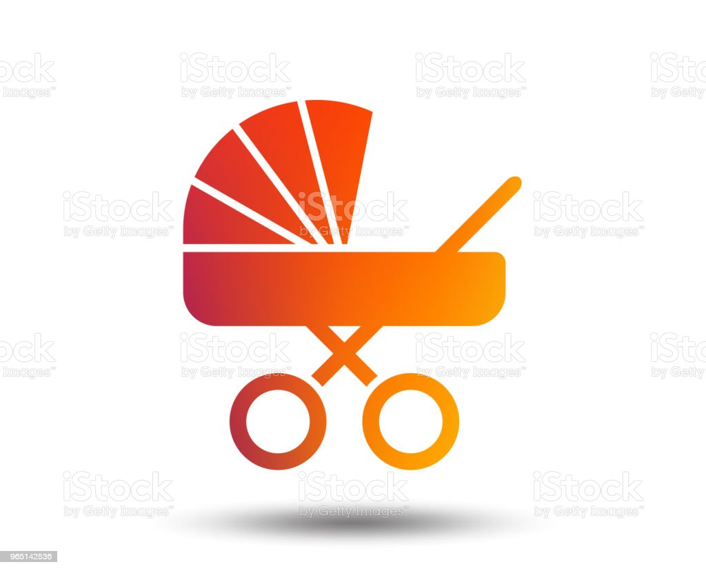 Baby pram stroller sign icon. Baby buggy symbol. royalty-free baby pram stroller sign icon baby buggy symbol stock vector art & more images of art