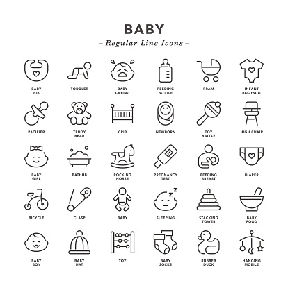 Baby - Regular Line Icons
