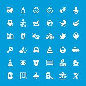 Baby related vector icons - set #35