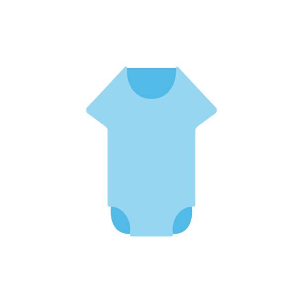 baby strampler flache symbol vektor-design-illustration - catsuit stock-grafiken, -clipart, -cartoons und -symbole