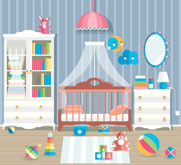 Colorful Mess Room: Royalty Free Messy Closet Clip Art, Vector Images