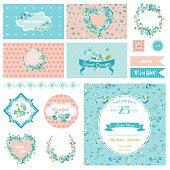 Baby Scrapbook Party Set - Flower Theme