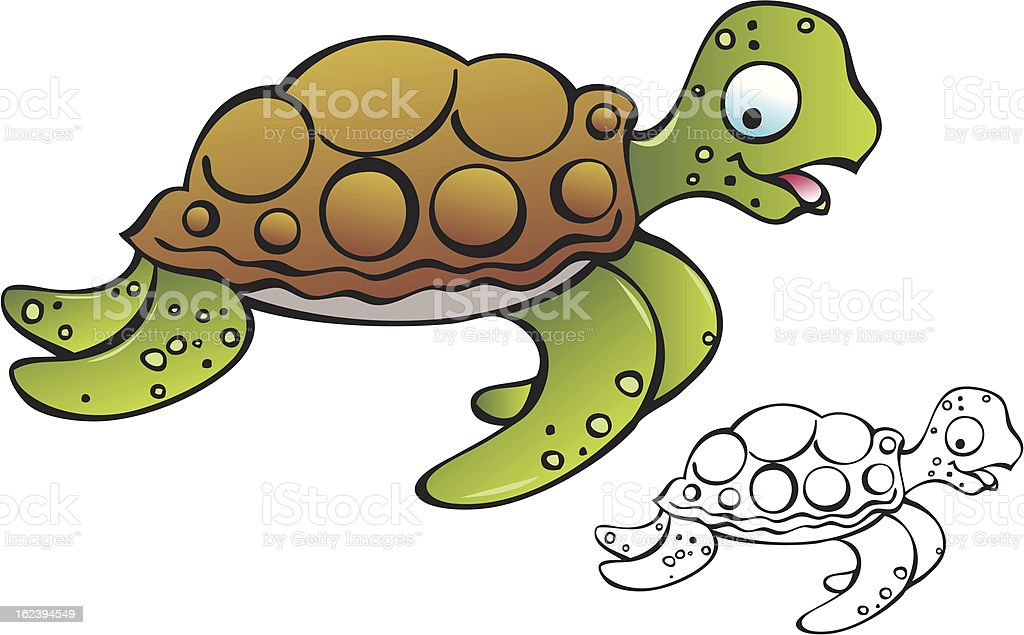 Baby Sea Turtle royalty-free baby sea turtle stock vector art & more images of animal