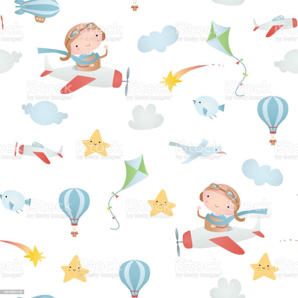 Patrón Sin Costuras Bebé Illustracion Libre de Derechos 901932418 ...