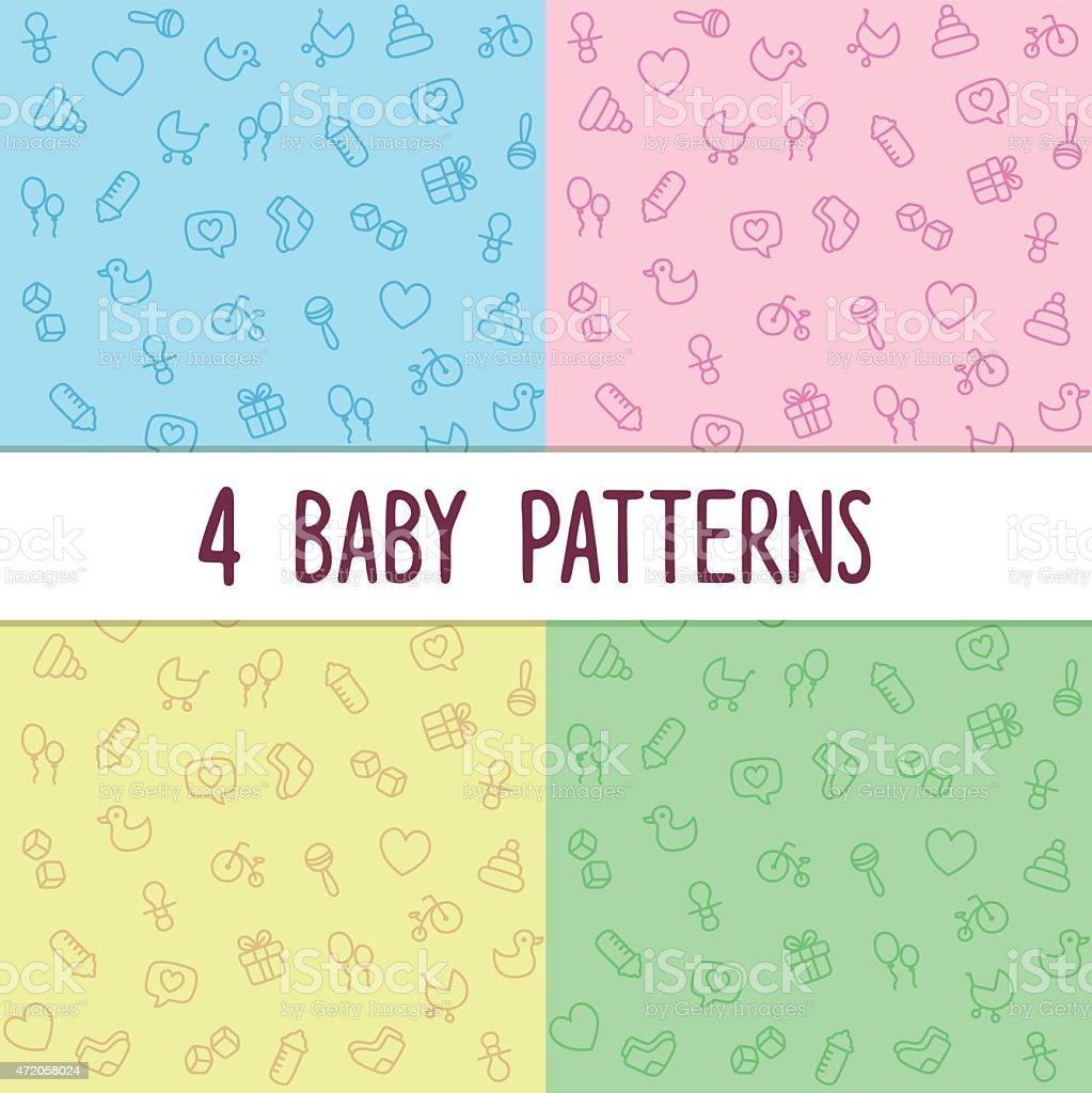 textures sans couture bébé - Illustration vectorielle