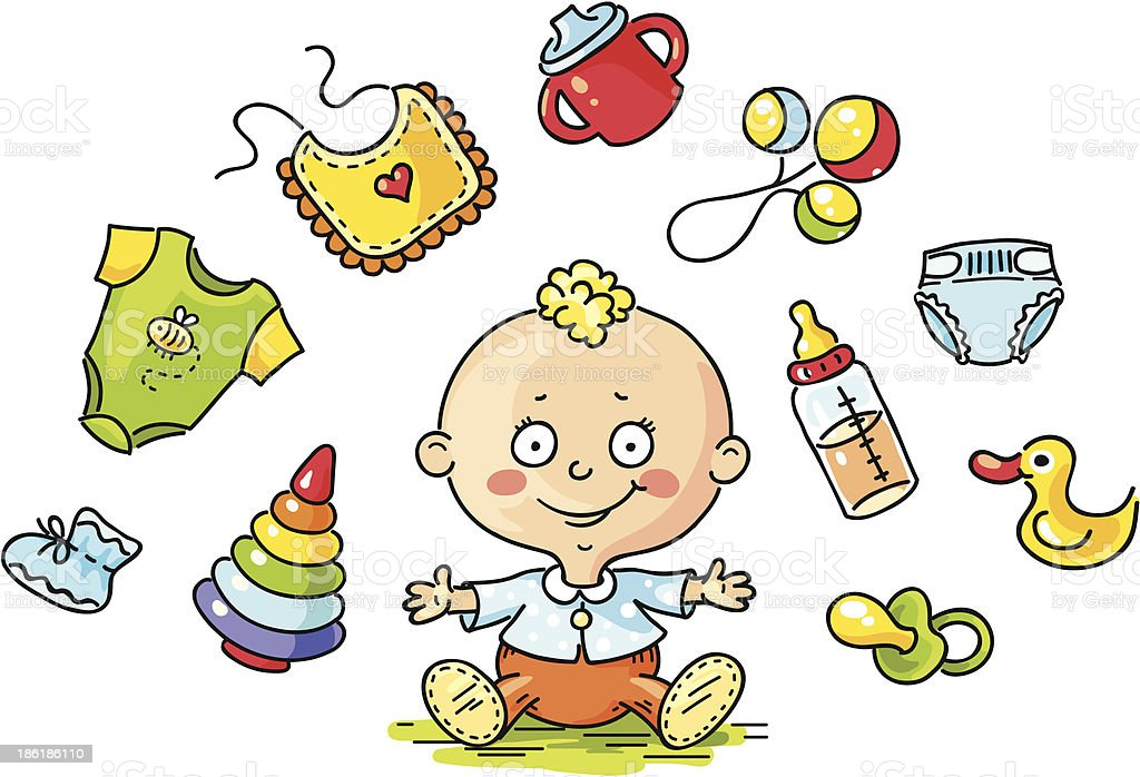 Baby set royalty-free stock vector art