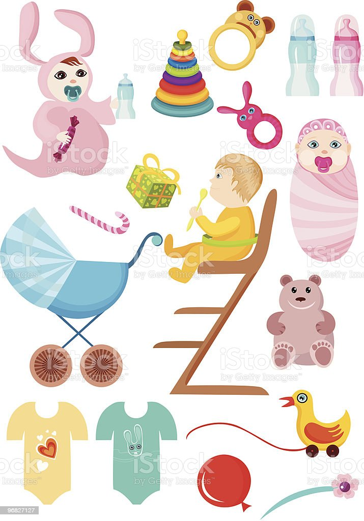 baby set royalty-free stock vector art