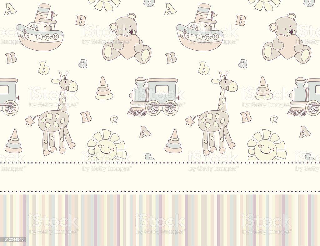 Baby Shower Background stock vector art 512044845 | iStock