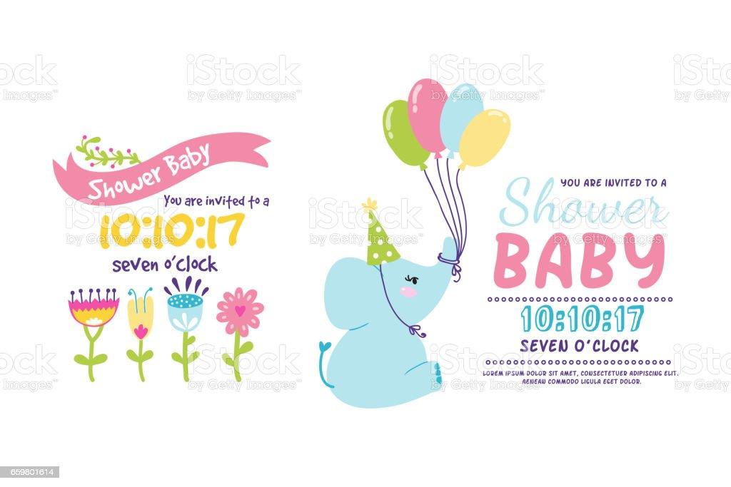 Ilustración de Bebé Ducha Tarjeta Madres Feliz Día Insignias ...
