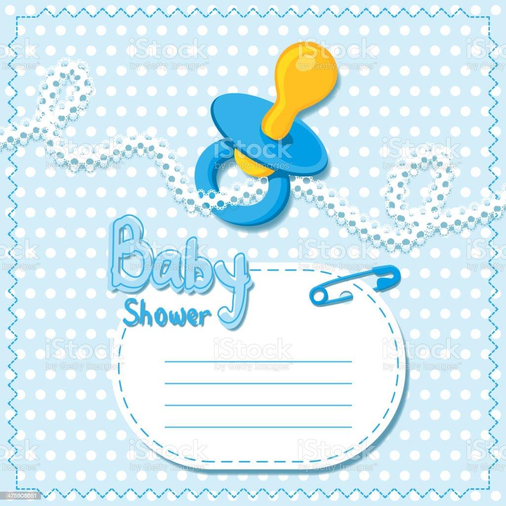 Baby Showers Azul Plantilla De Tarjeta - Arte vectorial de stock y ...