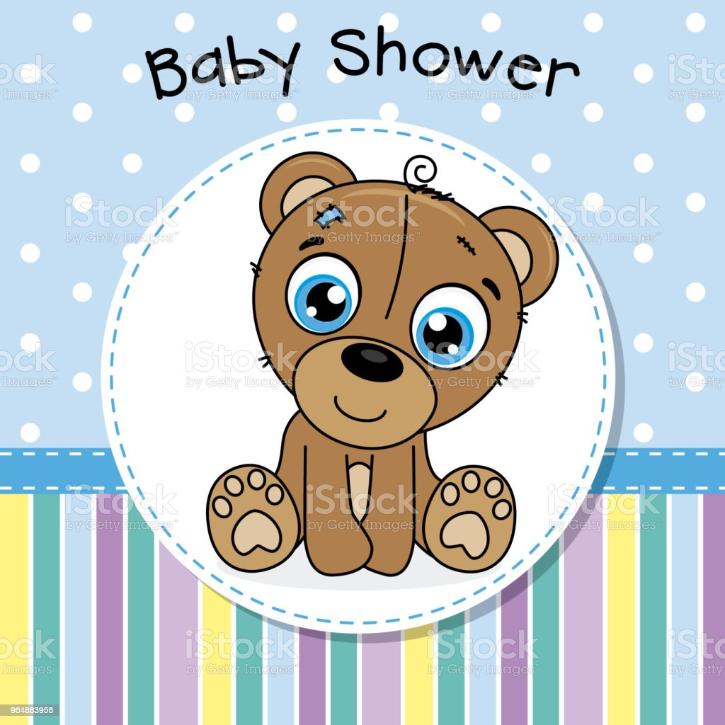 baby shower boy. cute bear royalty-free baby shower boy cute bear stock vector art & more images of animal