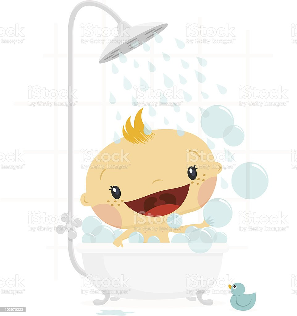 Baby shower boy. Newborn greeting card royalty-free stock vector art