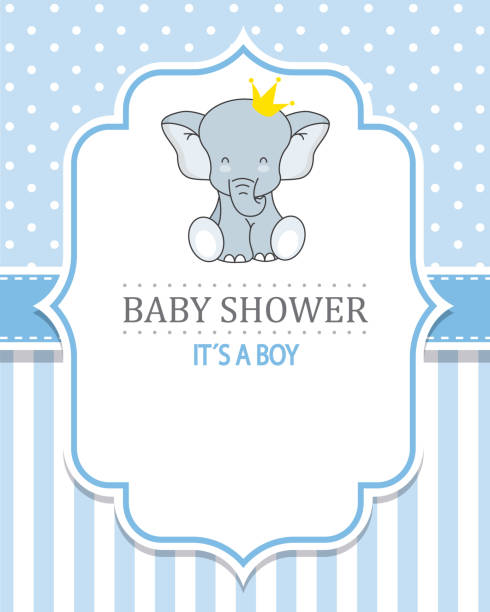 baby shower boy - baby shower stock illustrations, clip art, cartoons, & icons