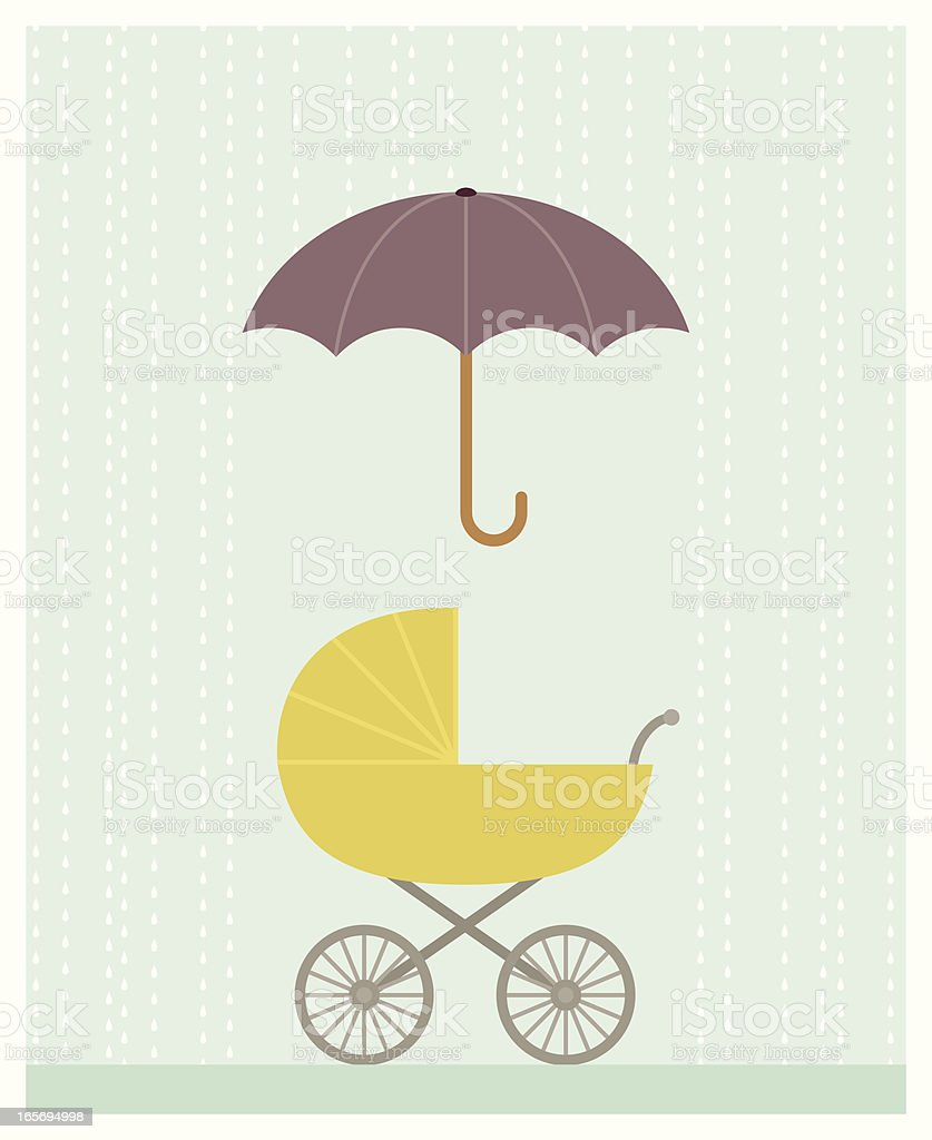 Baby Shower Buggy vector art illustration