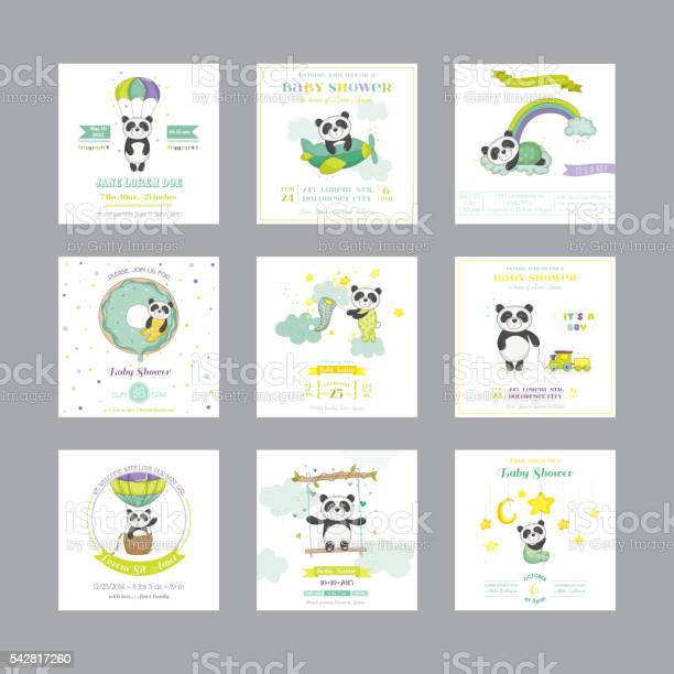 Baby shower card arrival baby card baby panda animal vector id542817260?b=1&k=6&m=542817260&s=612x612&h=zaqpygl7ctsshrlhskhabc3qtrwkjbplcdghvckygnw=