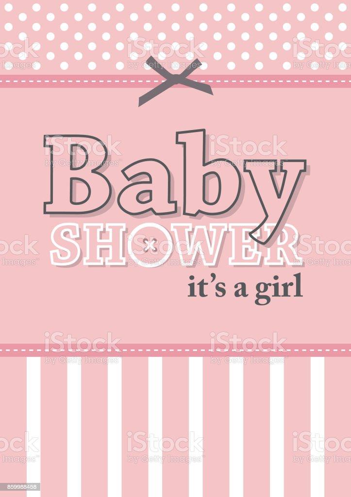 baby shower card design. vector art illustration