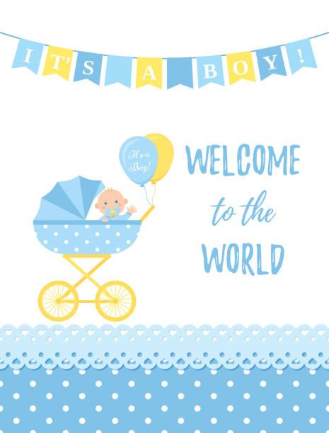 ベビー シャワー カードのデザイン。ベクトルの図。誕生日パーティーの背景。 - 出産点のイラスト素材/クリップアート素材/マンガ素材/アイコン素材