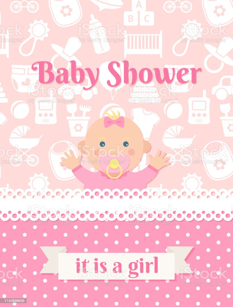 Baby Shower Card Design Vector Illustration Birthday Party Background Stock Illustration Download Image Now Istock
