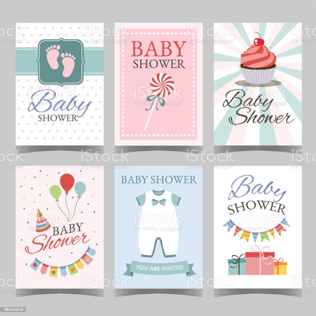 Baby Shower Card Set For Boy For Girl Happy Birthday Party
