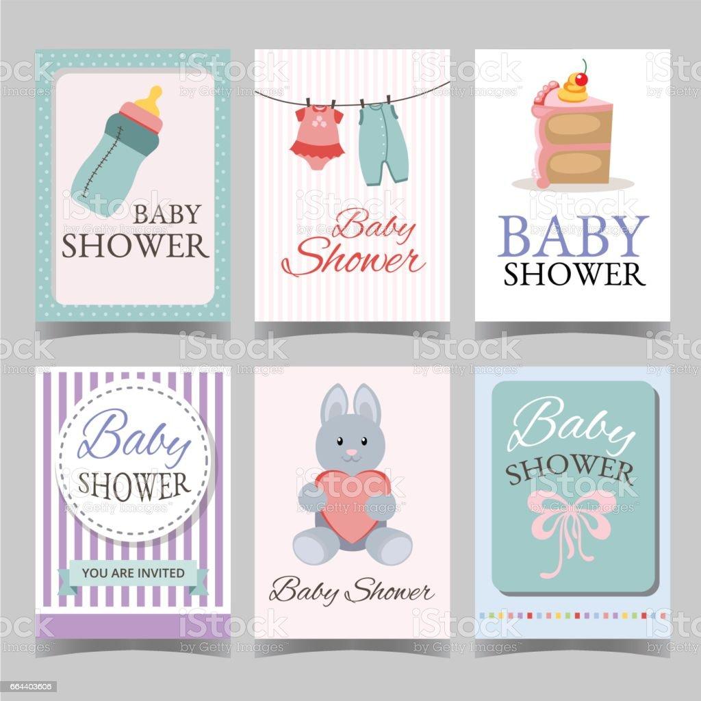 Babyduschekarte Für Junge Mädchen Alles Gute Zum Geburtstagpartei Es
