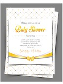 Vector illustration of Baby shower card template