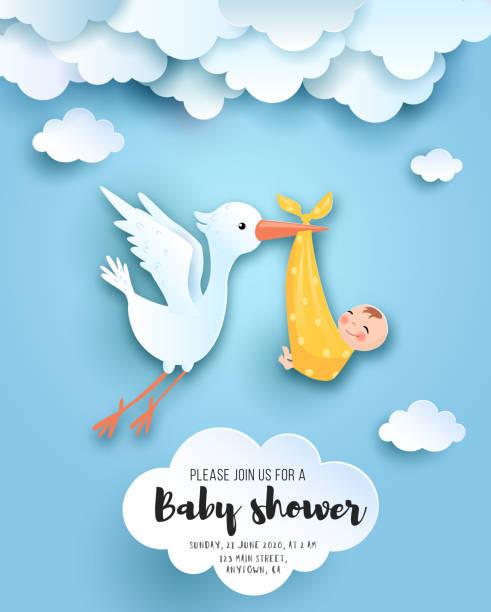 ベビーシャワーカード。 - 新生児点のイラスト素材/クリップアート素材/マンガ素材/アイコン素材