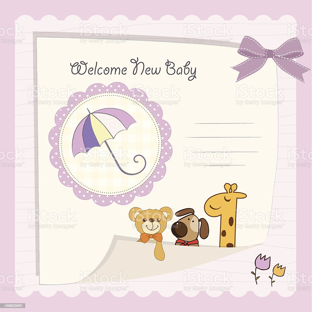 baby shower card royalty-free baby shower card stock vector art & more images of animal