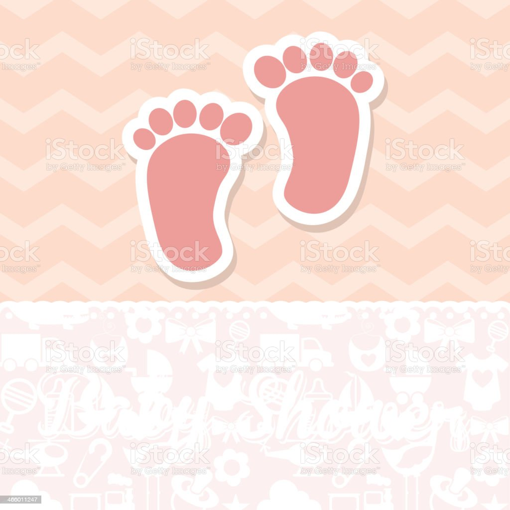 Baby Shower Card vector art illustration