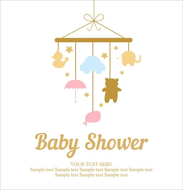 illustrations, cliparts, dessins animés et icônes de bébé douche carte - naissance