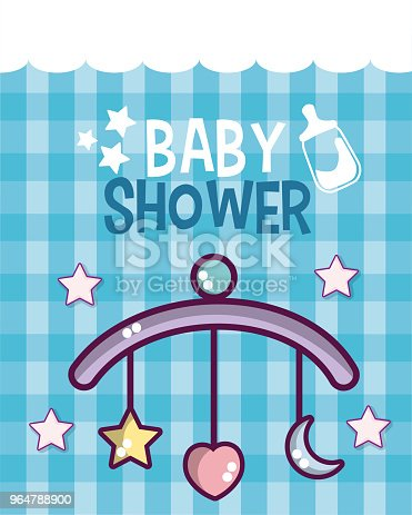 Baby Shower Card Stock Vector Art & More Images of Announcement Message 964788900
