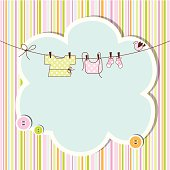 Baby shower card with copy space