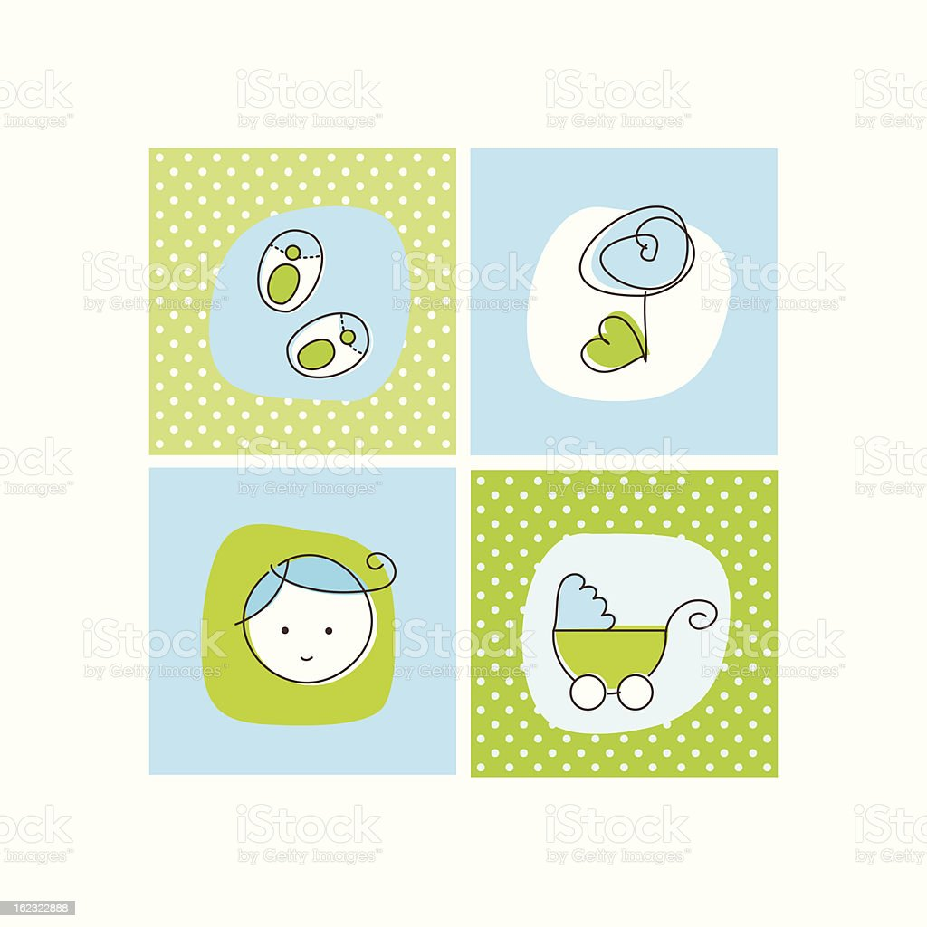Baby shower card with white frame royalty-free baby shower card with white frame stock vector art & more images of 12-17 months