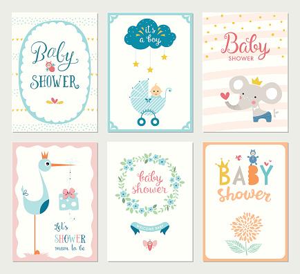 Baby Shower Cards Set