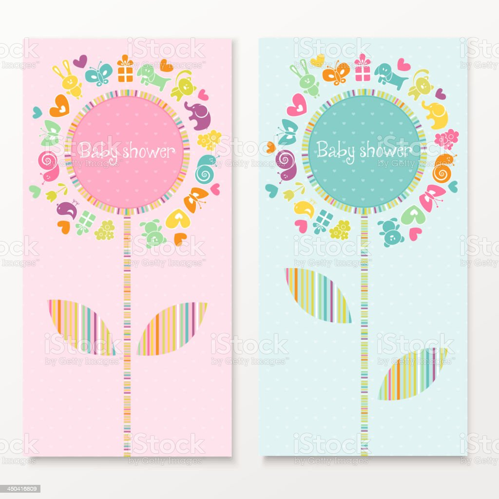 Baby shower cards royalty-free stock vector art