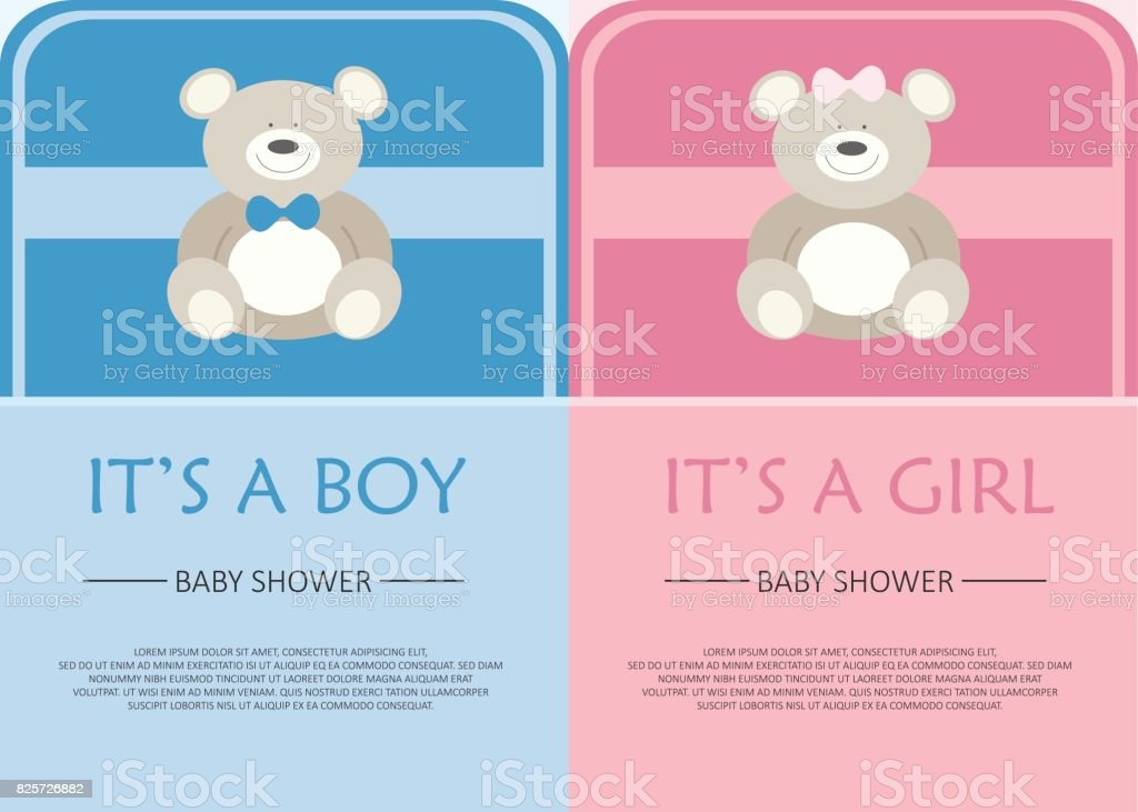 Baby Shower Celebration Greeting And Invitation Card Layout